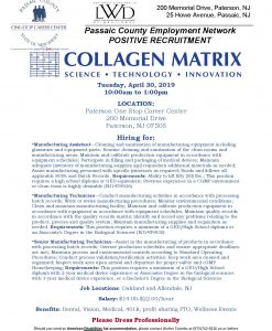Collagen Matrix Hiring Event